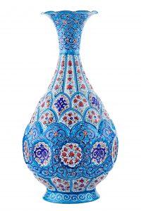 Vintage colorful vase